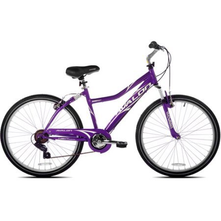 "NEXT Avalon 26"" Comfort Bike Full Suspension Women's Dual suspension steel Purple NEW"