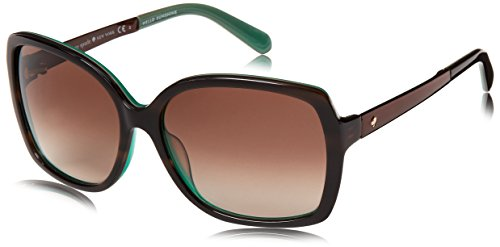 Kate Spade Women's Darilynn Square Sunglasses, Brown Horn Jade & Brown Gradient, 58 mm