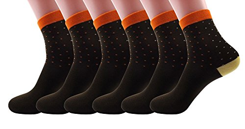 SilkWorld Womens Cotton Colorful Socks