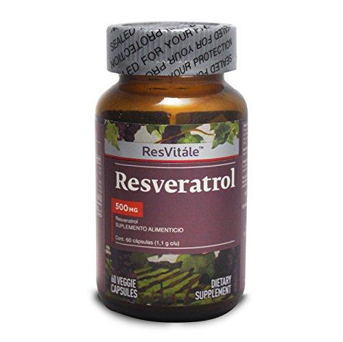 ResVitále Resveratrol 500 mg, 60 cápsulas (Resveratrol 500 Mg)