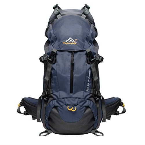 Hiking Backpack, Bags Shop 45L+5L Daypack with Waterproof Rain Cover for Outdoor Camping Travel Navy Blue