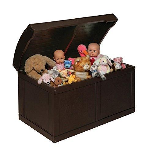 espresso barrel top toy chest - 6
