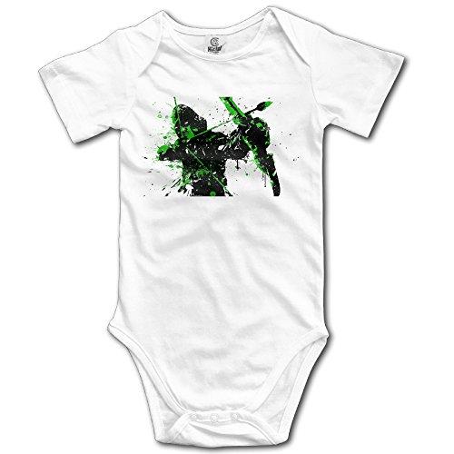 Cotton Babysuit Toddler Bodysuit Green Arrow (3 Colors) 6 M White (Green Arrow Suit)