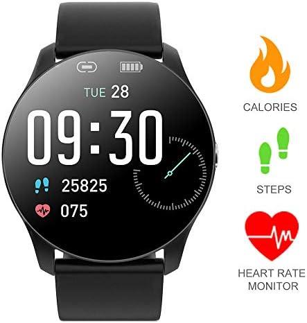 Smart Wrist Watch Touchscreen Smart Watch, Fitness Tracker Watch with Pedometer Heart Rate Monitor Sleep Tracker, IP67 Waterproof Activity Tracker for Men and Women Milan Black