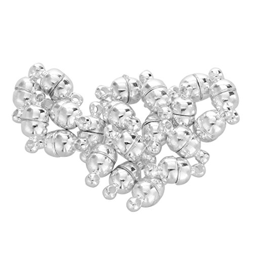 Phones Accessories - 20 Silver Plated Magnetic Clasp Bead Findings 0.43x0.2 Quot - Events Toys Cell Health Girls Sports Electronics Technology Motorcycles Beauty Garden Phones Home Computers We ()