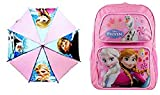 Frozen Larg pink Backpack and Pink Umbrella -
