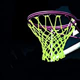 Xiong Chao Universal Indoor & Outdoor Nylon Basketball Hoop Net Replacement Glow in The Dark, Portable Nylon Basketball Net Replacement