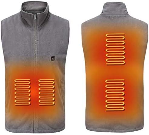 屋外キャンプハイキング、ゴルフのために暖かいジャケットを充電男子と30秒で70℃に加熱することができる女性の加熱されたベスト、USB (色 : Gray, サイズ : M)