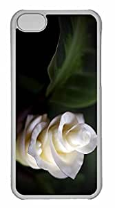 iPhone 5C Case, Personalized Custom White Soft Petals for iPhone 5C PC Clear Case by lolosakes
