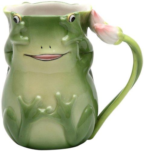 (Appletree 4-1/8-Inch Fairy Frog Porcelain Mug)