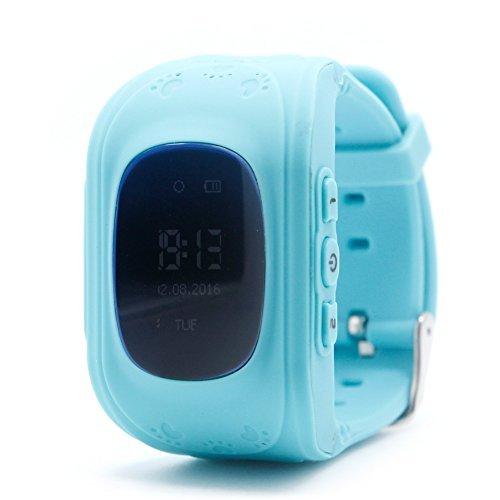 Zadaro Safety Smart Phone Watch Children Kids Wristwatch Q50 GPS Locator Tracker Anti-Lost Smartwatch for iOS Android (Blue)