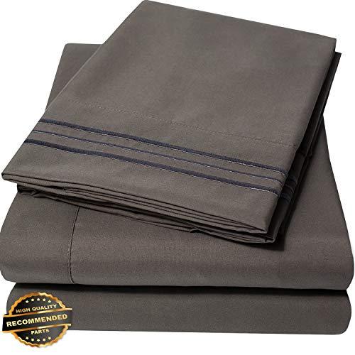 Gatton New Premium 1800 Thread Count Microfiber Bedroom Solid Color Bed Sheet Set | LINENIENHM-182012330 ()