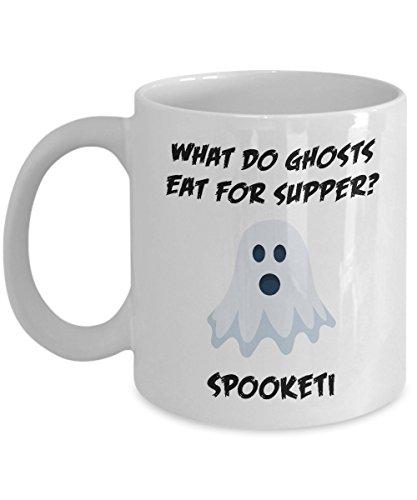 Corny Halloween Joke Ghost Spooky Acrylic Coffee Mug 11oz ()