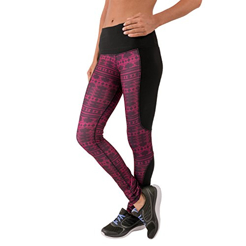 RBX Active Womens Full-Length, High-Waisted, Aztec Print Leggings (Mustache Pantyhose)