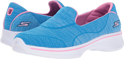 Next Shoes Kids (SKECHERS KIDS Girl's Go Walk 4 Speedy Sports 81136L (Little Kid/Big Kid) Blue/Pink Shoe)