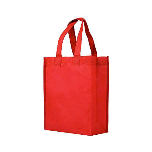 Reusable Gift/Party/Lunch Tote Bags - 25 Pack - Red