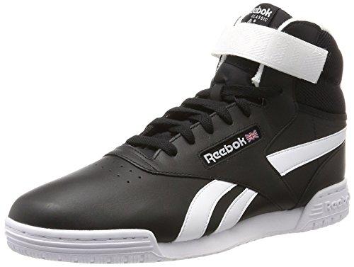 a Fit Collo Reebok S o Black Uomo Ex White Alto Nero Hi Sneaker Clean 1pxHS0q
