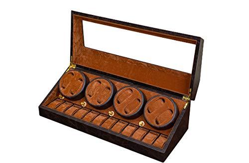 8本自動巻き上げ 腕時計収納ケース 20本 ワインディングマシーン ブラウン OY-07BR B07KWVVPR9