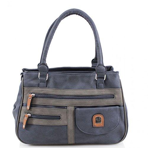 Navy Shoulder Bags 3 LeahWard® Compartments Bag 3 2 Women's Grab CW168 Compartments Compartments Quality Body Bag Cross Handbags w1P6XxZ1