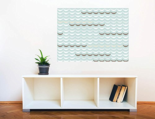 Removable Wall Sticker Wall Mural Seamless Geometric Delicate Waves Creative Window View Wall Decor