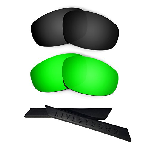 HKUCO Black/Green Polarized Replacement Lenses plus Black...