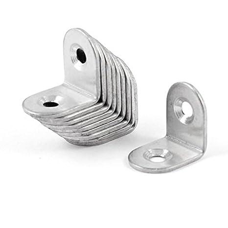 OULII Soporte de acero inoxidable 90 grados ángulo, esquina refuerzo soporte conjunto sujetador, 20 mm x 20 mm x 16 mm, paquete de 20