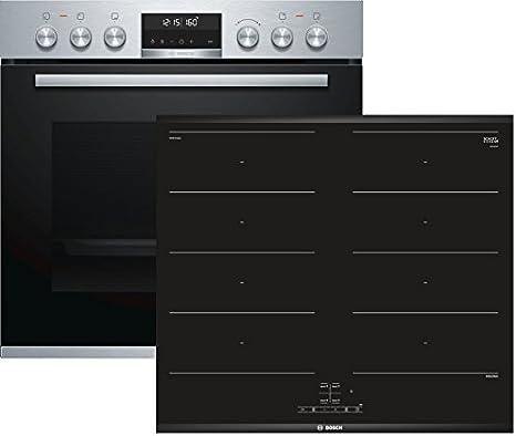Bosch (HEA5784S1 + NXX675CB1E) Electrodomésticos de cocina Horno de placa de inducción Aparato de cocina - Conjuntos de juegos (placa de inducción, vidrio y cerámica ...
