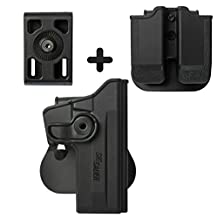 IMI Defense Z1070 Tactical Combo Kit Roto Retention Paddle Holster + Double Magazine Pouch + Belt Holster Attachment For Sig Sauer 226 (9mm/.40/357), P226 Tactical Operations (Tacops) Pistol Handgun