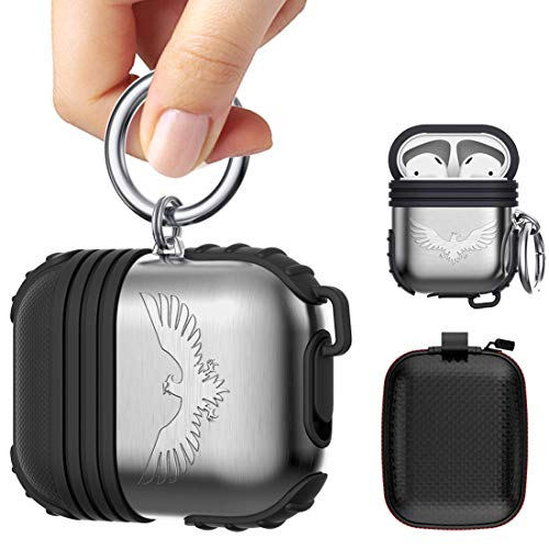 Silicone Maid LLC Compatible Air Pod Holder Portable Anti-Lost Strap Silicone Case Compatible Apple AirPods (Penguin)