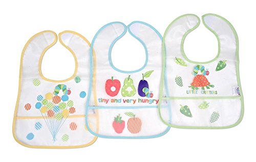 Eric Carle Very Hungry Caterpillar 3 Piece The Very Hungry Caterpillar Baby PEVA Water-Resistant Bib -