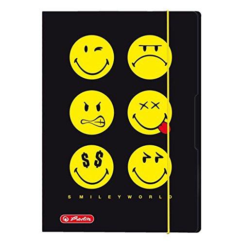 Herlitz 448209/cartella raccolta A2/cromato oduplex Smiley World arcobaleno A4 Smiley Rainbow