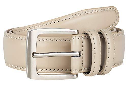 Cinturón de vestir para hombre de piel auténtica, color negro, café coñac de 35 mm, todos los tamaños, Wheat...