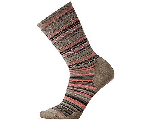 Smartwool Women's Ethno Graphic Crew Socks (Fossil Heather) Small