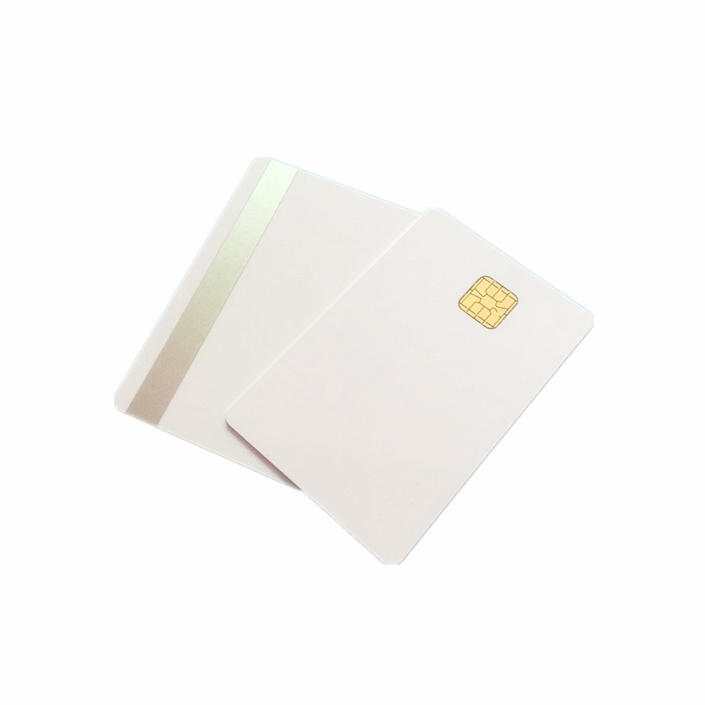 SLE 4428 Contact IC Big Chip White PVC Smart Card With HiCo 2 Track Sliver Magstripe Card 200PCS By XCRFID