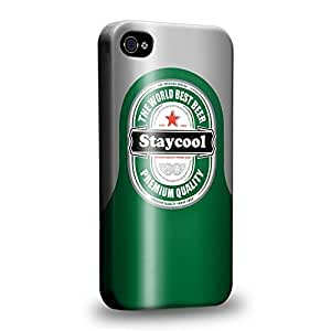 Case88 Premium Designs Stay Cool Beer Can Protective Snap-on Hard Back Case Cover for Apple iPhone 6 4.7