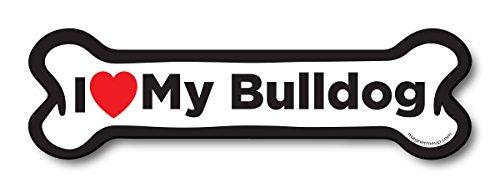 i love bulldog magnet - 4