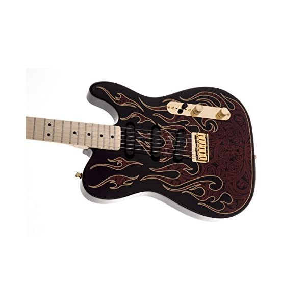 Fender 0108602887 James Burton Telecaster Maple Fingerboard Red Paisley Flames Electric Guitar
