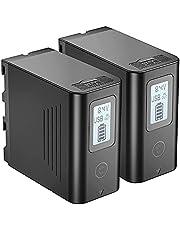 JYJZPB NP-F970 Accu 7800mAh voor Sony 2x NP-F980 NP F970 F750 F770 F960 F550 F530 F330 F570 Camcorderaccu Camera CCD-SC55 TR516 TR716 TR818 TR910 TR917 voor Videolampen Veldmonitors, NP-F970 Batterij is Zelfopladend
