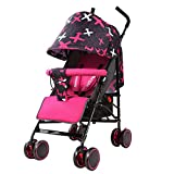 Lightweight Portable Pushchair Travel System, Baby Jogger Travel Buggy with Anti-Shock Springs Adjustable High View Pram - 38 50 104 cm (Two Colors)