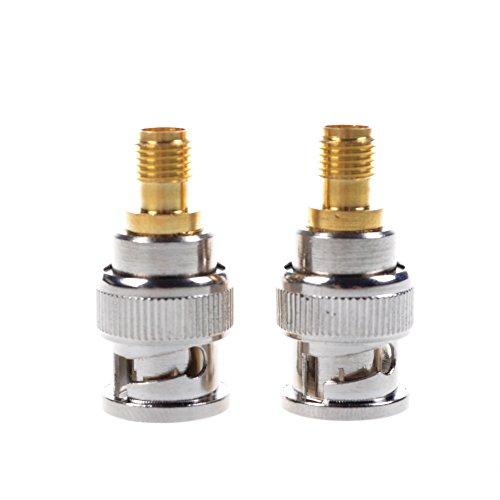 Bluecell 2 Pcs BNC Male to SMA Female Plug Coax Adapter