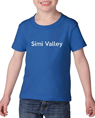 Ugo Simi Valley CA California Map Flag Home of University of Los Angeles UCLA USC CSLA Heavy Cotton Toddler Kids T-Shirt - Ca Simi