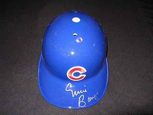 Chicago Cubs Autographed Helmets - Ernie Banks Chicago Cubs Autographed Signed Full Size Batting Helmet JSA - Authentic Memorabilia