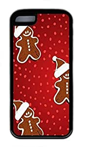 Gingerbread cookie Custom Personalized Design DIY Back Case for iPhone 5C TPU Black