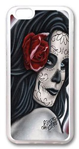 Amazing Hard Plastic iPhone 6 case, Ruyue Shop-Skull Face Painting Woman-02(Border)-iPhone 6 case