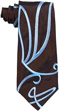 Magnoli Clothiers Doctor Who Style Embroidered Silk Swirly Tie