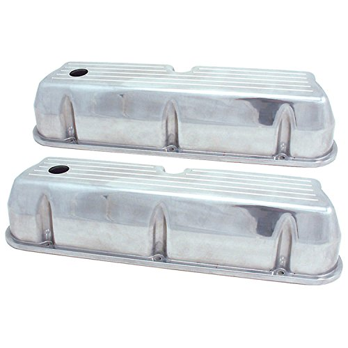 Spectre Performance 5019 Ball Milled Aluminum Tall Valve Cover for Small Block Ford - Ford Aluminum Valve Covers