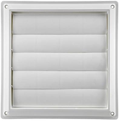 "Lambro Industries, Inc.-8"" White Plastic Louver Vent (Price Per Piece). Item #363W, outside dimensions are 10.875"" x 10.875""."