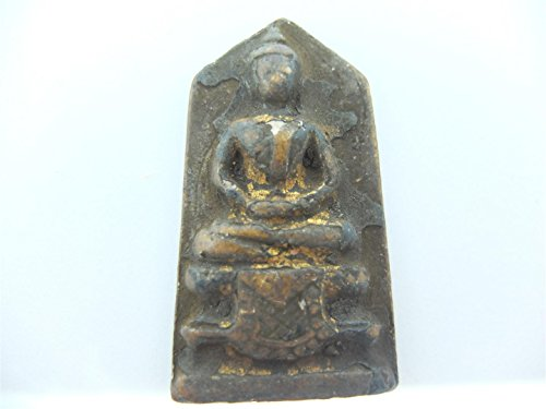 Thai Buddha Authentic Antique Phra Somdej Toh Wat Rakang Amulet Clay - Gift (Lawn Gnome Costume)