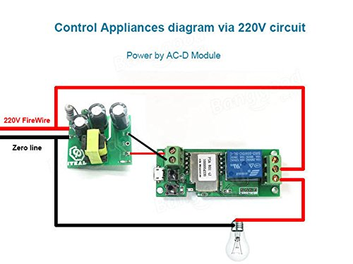 MHCOZY WiFi Wireless Smart Switch Relay Module for Smart Home 5V 5V/12V,Ba applied to access control, turn on PC, garage door (5v) by MHCOZY (Image #6)