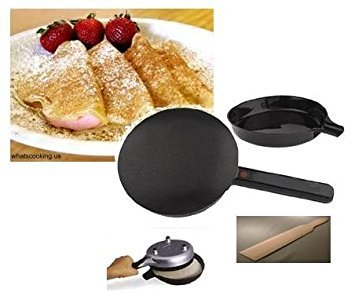 Electric Crepe Maker with BONUS Silicone Basting Brush by Silver Line